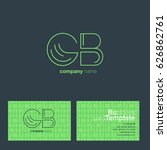 g b letters logo with business...   Shutterstock .eps vector #626862761