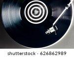 turntable vinyl record player.... | Shutterstock . vector #626862989