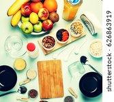 healthy breakfast. various... | Shutterstock . vector #626863919