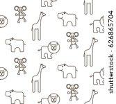 african wild animals kid... | Shutterstock .eps vector #626865704