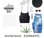 fashion blogger concept.... | Shutterstock . vector #626866451