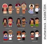 people in national dress.... | Shutterstock .eps vector #626867204