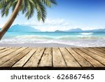 table background and summer day  | Shutterstock . vector #626867465