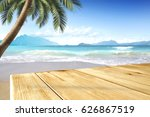 table background and summer day  | Shutterstock . vector #626867519