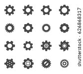 vector black gear icons set on... | Shutterstock .eps vector #626868317