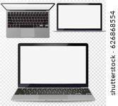 vector realistic silver laptop...   Shutterstock .eps vector #626868554