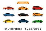 set of different cars isolated... | Shutterstock . vector #626870981