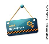 work in progress sign | Shutterstock .eps vector #626871647