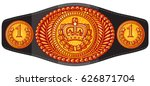 champion  boxing  belt vector... | Shutterstock .eps vector #626871704
