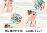 hand drawn vector abstract... | Shutterstock .eps vector #626875829