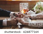 family tea ceremony with... | Shutterstock . vector #626877164