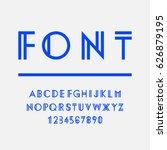 geometric font  alphabet.... | Shutterstock .eps vector #626879195