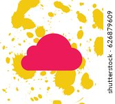 cloud icon  vector illustration.... | Shutterstock .eps vector #626879609