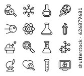 research icons set. set of 16... | Shutterstock .eps vector #626879681