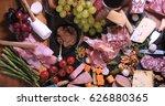 top down view of a platter of... | Shutterstock . vector #626880365
