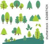 tree clip art | Shutterstock .eps vector #626887424