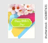 happy mother's day  vector... | Shutterstock .eps vector #626887631