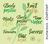 conceptual handwritten set of... | Shutterstock .eps vector #626891069