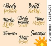 conceptual handwritten set of... | Shutterstock .eps vector #626891075
