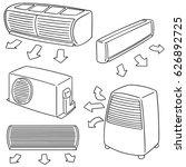 vector set of air conditioner | Shutterstock .eps vector #626892725
