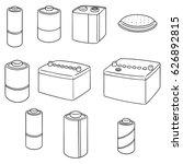 vector set of battery | Shutterstock .eps vector #626892815