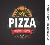 italian pizza vector emblem.... | Shutterstock .eps vector #626895839