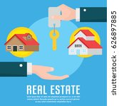 real estate infographic element ... | Shutterstock .eps vector #626897885