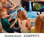 children computer class us for... | Shutterstock . vector #626899571