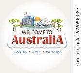 australia features header text... | Shutterstock .eps vector #626900087