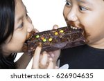 image of two greedy sibling is... | Shutterstock . vector #626904635