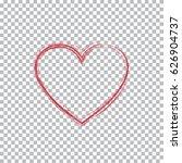 valentine's day red heart. hand ...