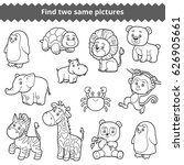 find two identical pictures ... | Shutterstock .eps vector #626905661