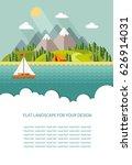 blank for text. summer morning... | Shutterstock .eps vector #626914031