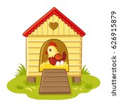 the hen sits in the henhouse... | Shutterstock .eps vector #626915879