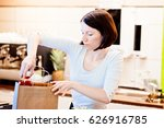 woman small local shop owner... | Shutterstock . vector #626916785