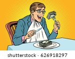 businessman eating money | Shutterstock .eps vector #626918297