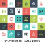 vector set of leisure and... | Shutterstock .eps vector #626918591