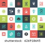 vector set of power and energy... | Shutterstock .eps vector #626918645