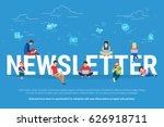 newsletter subscribers concept... | Shutterstock .eps vector #626918711