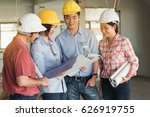 four construction engineer... | Shutterstock . vector #626919755