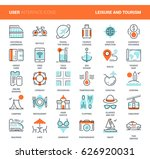vector set of leisure and... | Shutterstock .eps vector #626920031