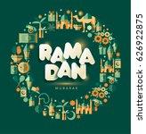 ramadan kareem greting... | Shutterstock .eps vector #626922875