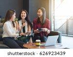 3 teenagers friends meet in...   Shutterstock . vector #626923439