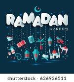 ramadan kareem greting... | Shutterstock .eps vector #626926511