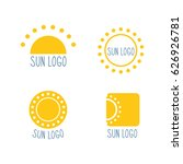 sun logos. vector illustration. ... | Shutterstock .eps vector #626926781