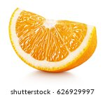 ripe slice of orange citrus... | Shutterstock . vector #626929997