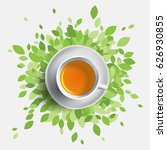 black tea cup vector... | Shutterstock .eps vector #626930855