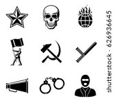 set of revolution icons  ... | Shutterstock .eps vector #626936645