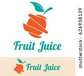 fruit juice logo | Shutterstock .eps vector #626938139