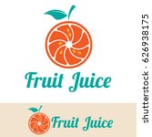fruit juice logo | Shutterstock .eps vector #626938175